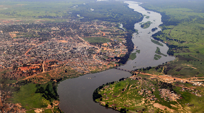 Juba and the White Nile in South Sudan