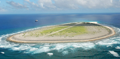 Aerial Photo of Tromelin Island by Amandine George